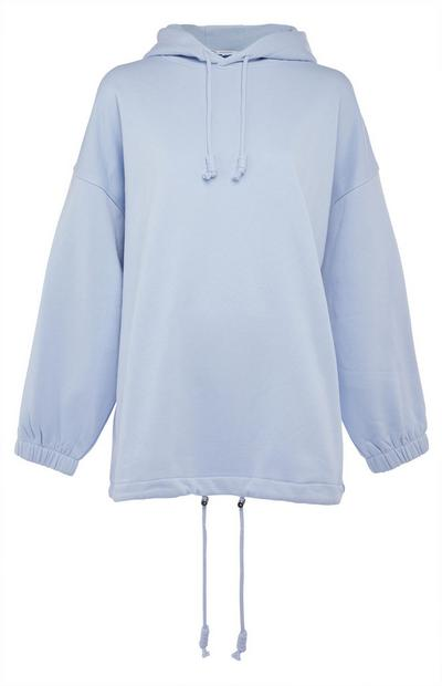 Light Blue Oversized Drawcord Hoodie