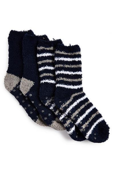 Navy Cosy Socks 2 Pack