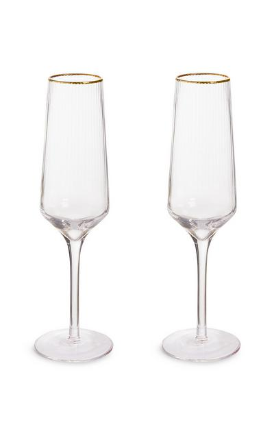 2-Pack Champagne Glasses