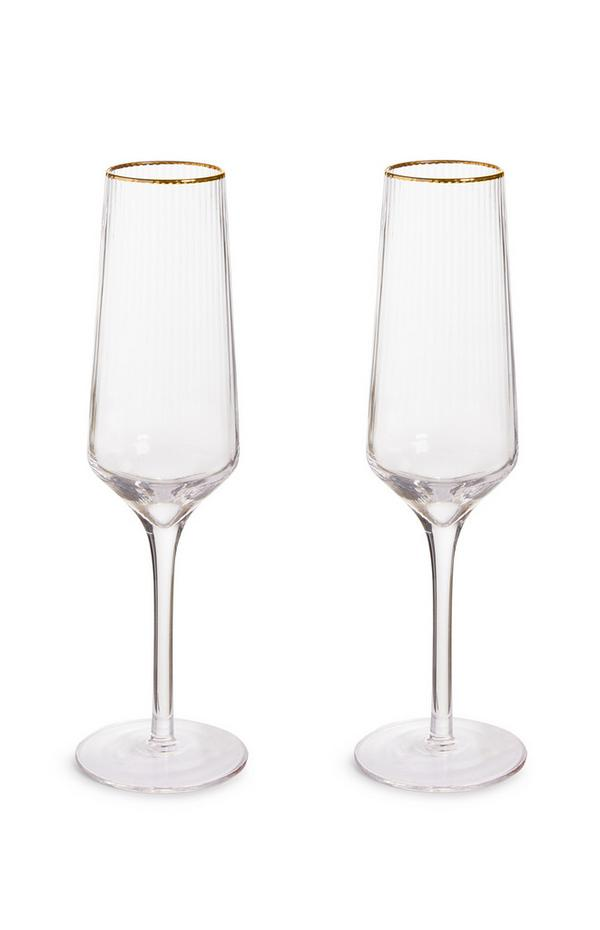 Pack de 2 copas de champán