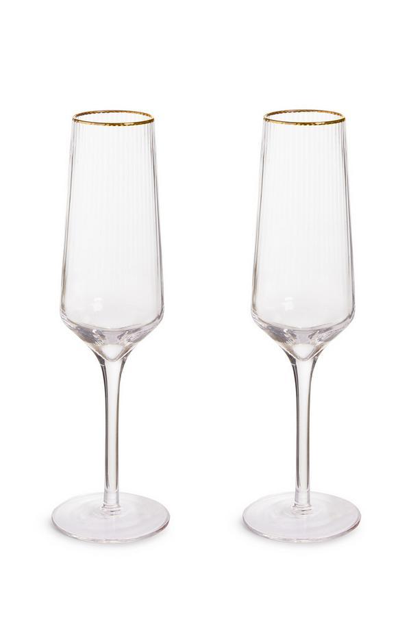 Champagneglazen, set van 2