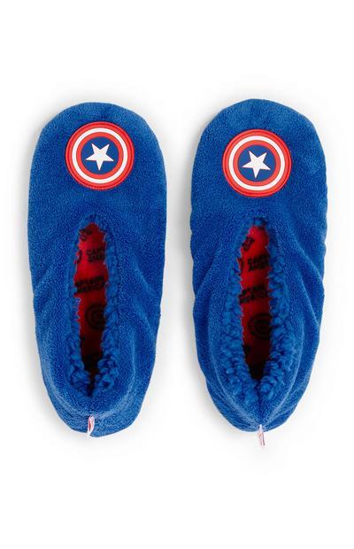 Pantufas Captain America menino azul
