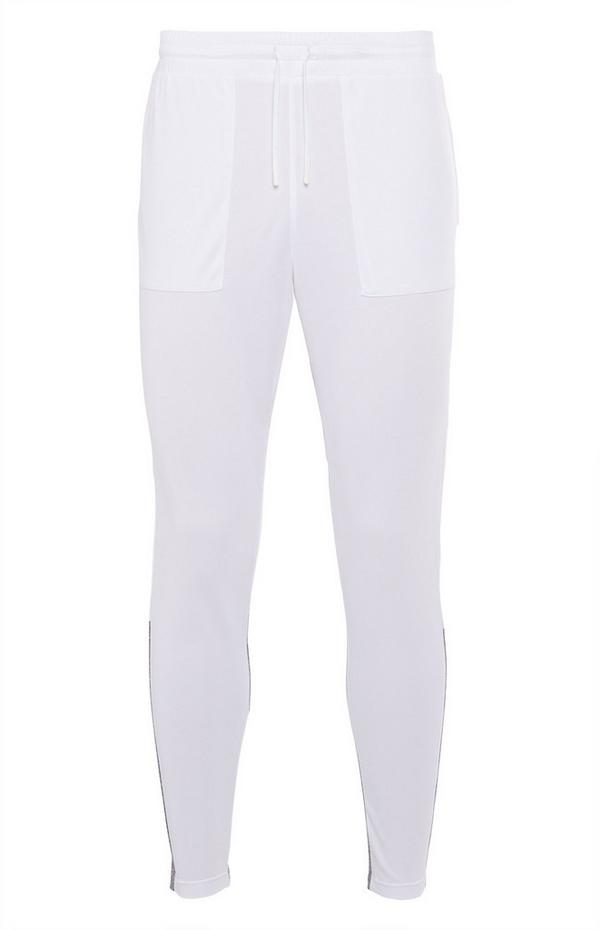 White Track Joggers