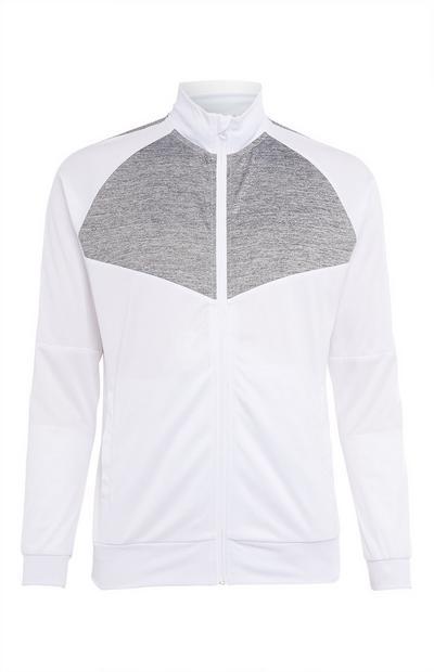 Weiße Trainingsjacke