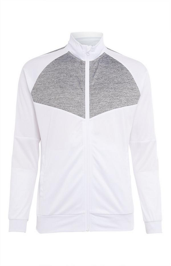 White Zip Up Track Top