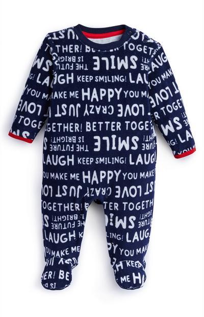Pelele con palabras positivas para recién nacido