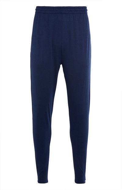 Donkerblauwe stretch joggingbroek