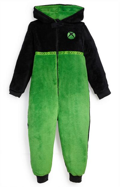 XBOX Green And Black Sherpa Onesie