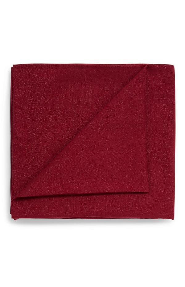 Mantel de color burdeos
