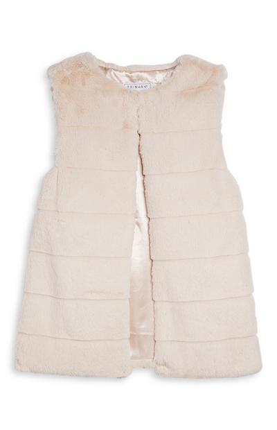 Older Girl Faux Fur Gilet