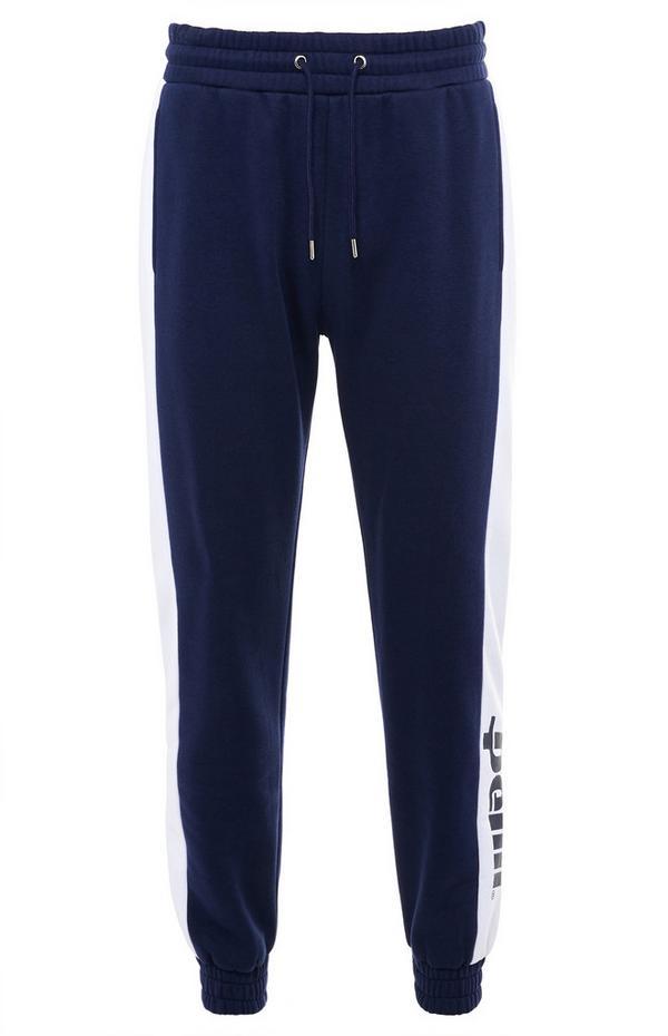 Donkerblauwe Penn-joggingbroek