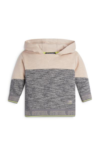 Baby Boy Cream and Grey Hoodie