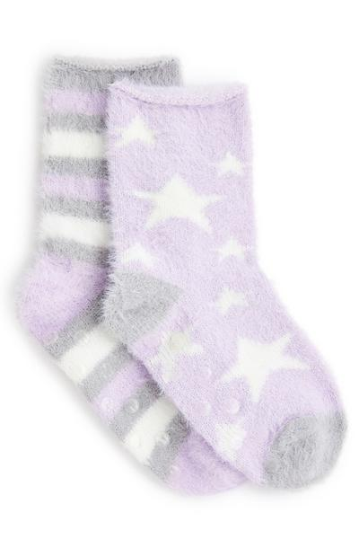 2-Pack Girl's Star Cozy Socks