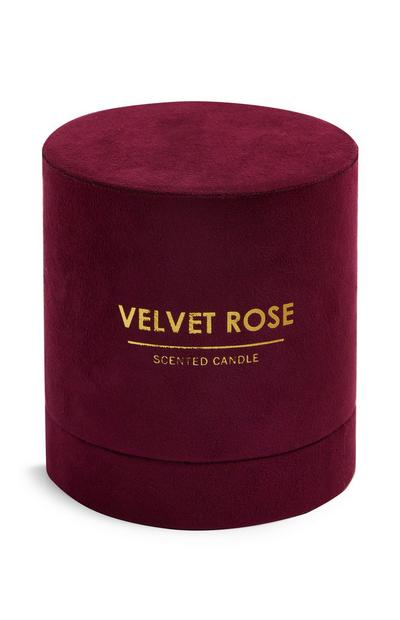 Velvet Rose Round Box Candle