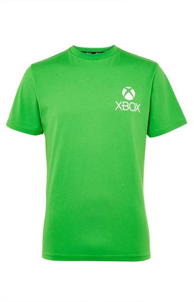 T-shirt verde con stampa Xbox