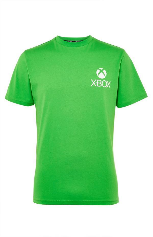 T-shirt vert à imprimé Xbox