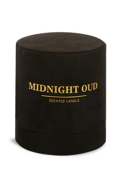 Bougie ronde avec support Midnight Oud