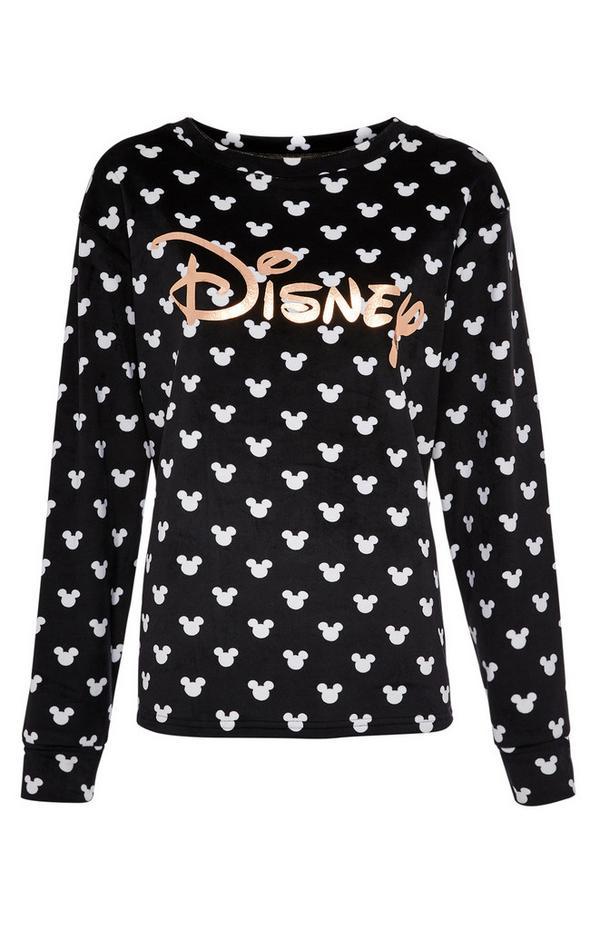 """Flauschiges schwarz-weißes """"Disney"""" Oberteil"""