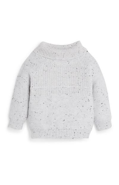 Katoenen sweater met rolkraag voor babyjongens