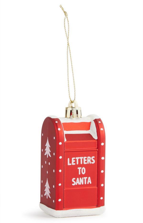Santa Letterbox Christmas Decoration