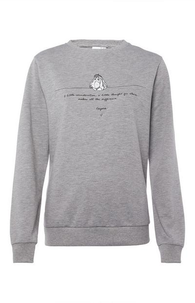 Gray Eeyore Quote Pajama Top