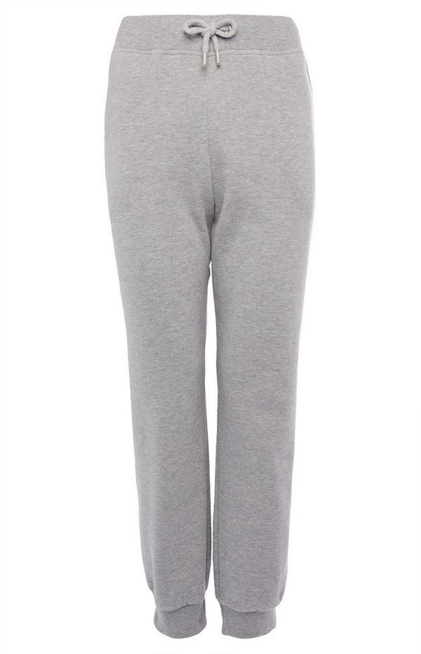 Cómodo pantalón de chándal de color gris