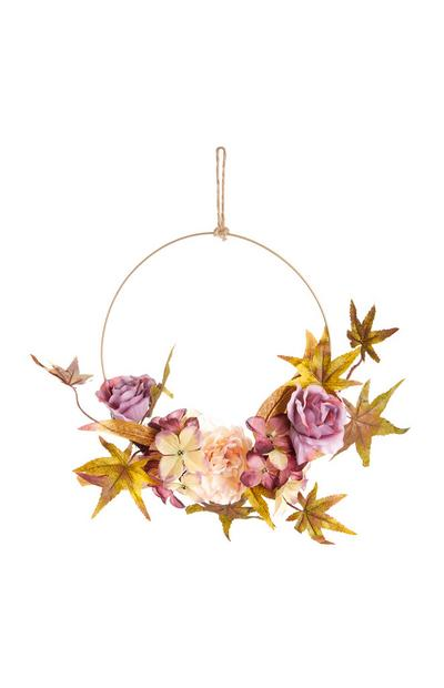 Dark Floral Hanging Wreath