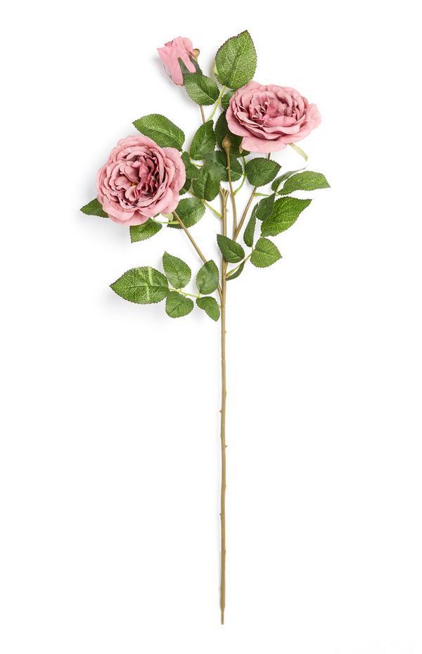 Einzelner Deko-Zweig mit Blüten in Violett