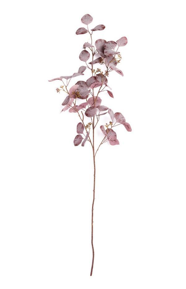 Einzelner Deko-Zweig mit Blättern
