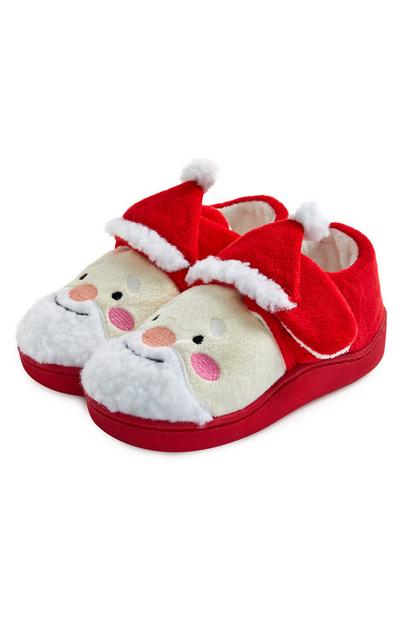 Younger Boy Christmas Santa Shoes Red