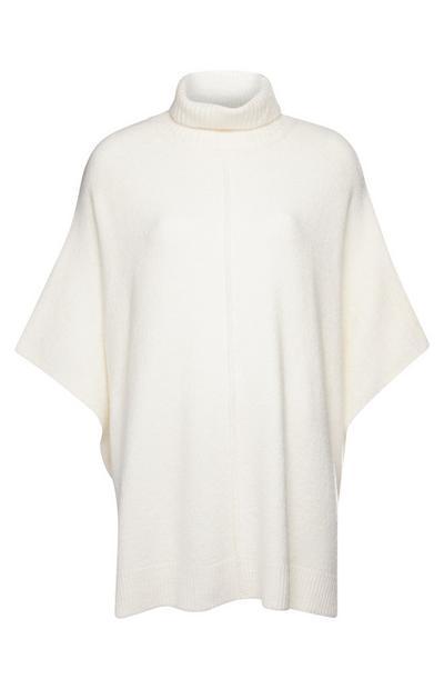 Mantella bianca a collo alto