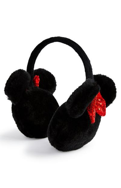 Black Minnie Mouse Earmuffs