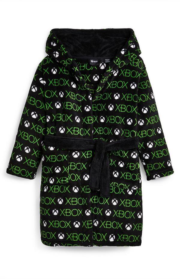 Vestaglia nera in sherpa con scritta Xbox