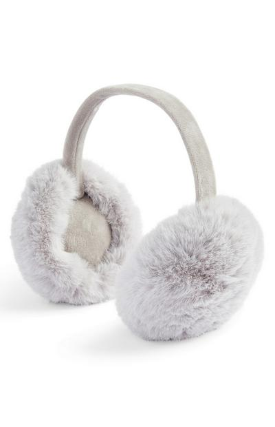 Grey Faux Fur Earmuffs