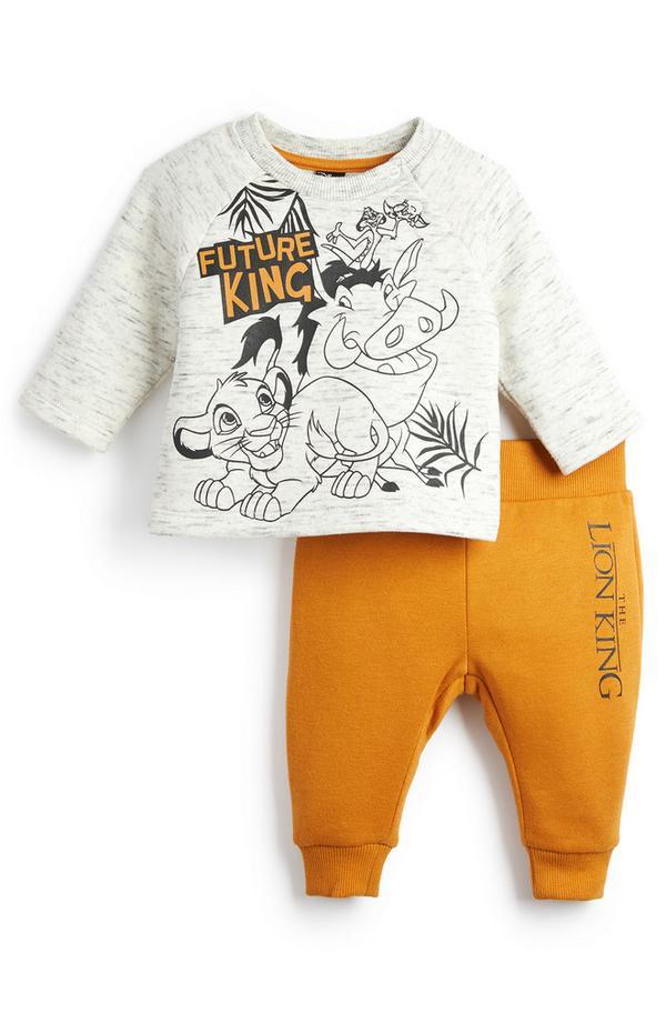 """""""König der Löwen"""" Freizeitanzug in Senfgelb und Weiß für Babys (J)"""