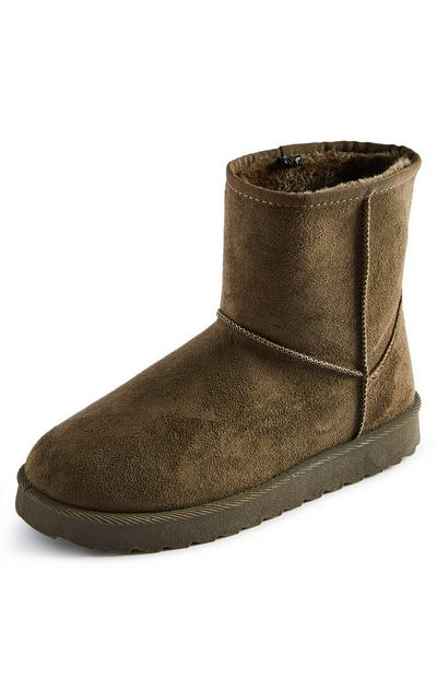 Tan Faux Suede Cozy Lining Boots