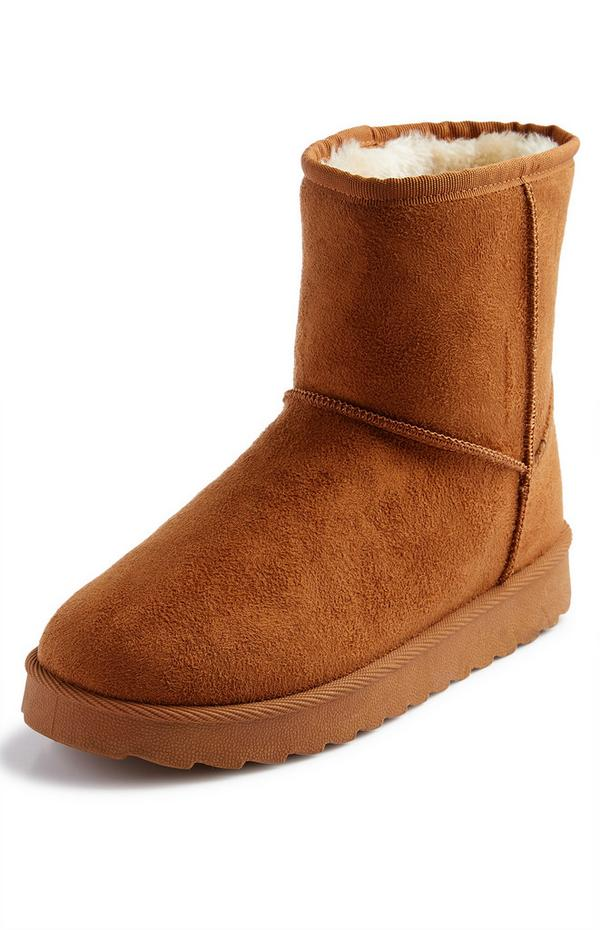 Tan Faux Suede Boots