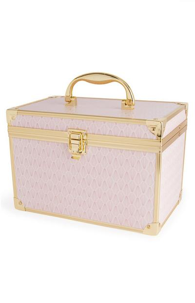Pink And Gold Vanity Case