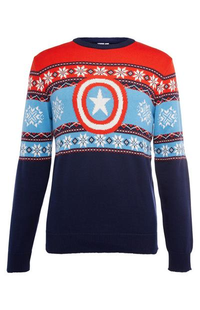 Kersttrui Marvel Captain America