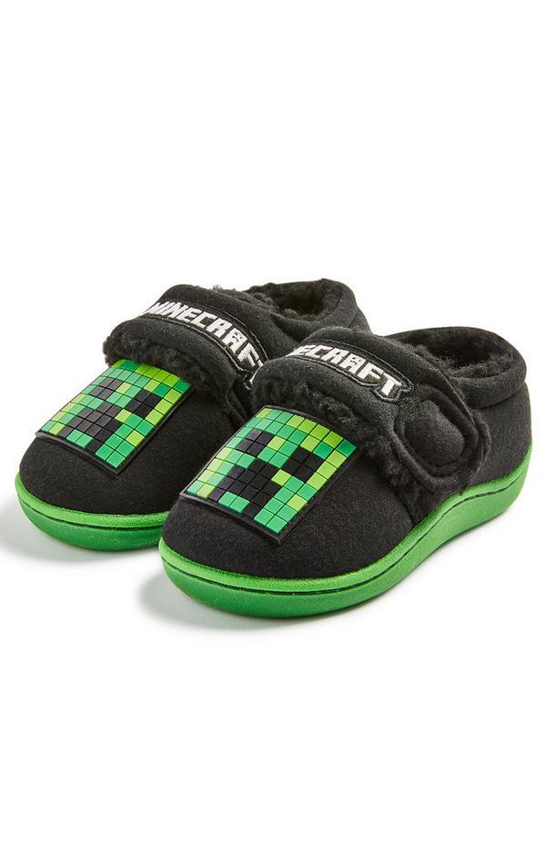 Pantofole con suola cupsole Minecraft da bambino