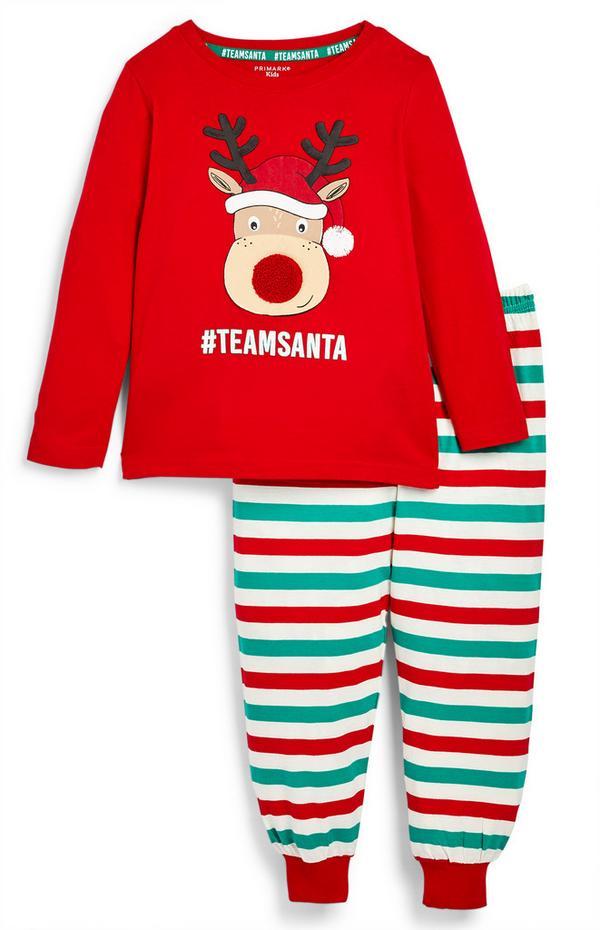 Pyjama familial à motif renne