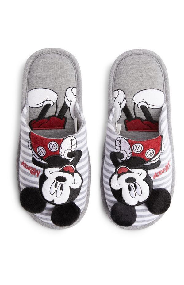 Pantuflas grises de Mickey Mouse