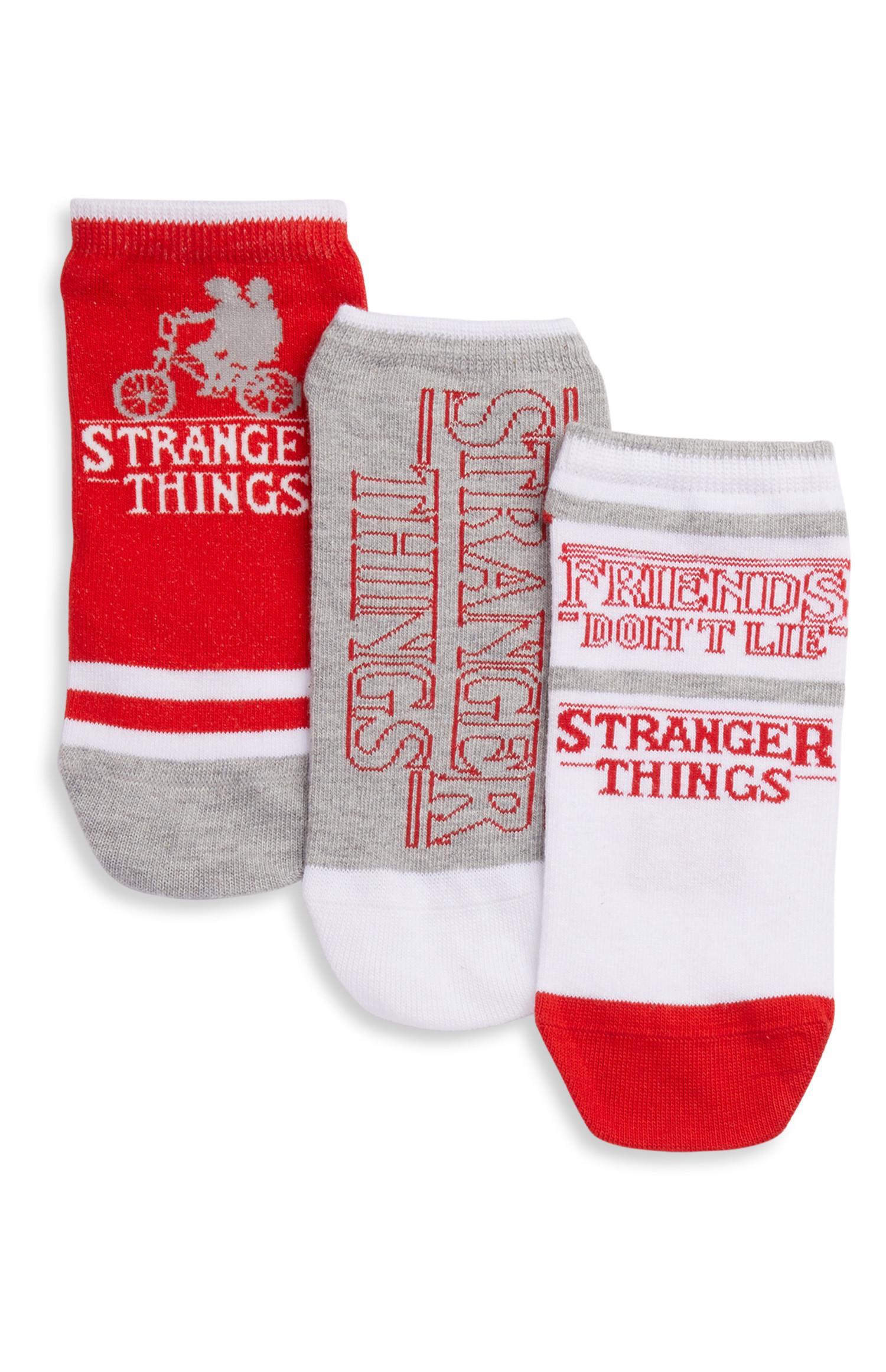 Stranger Things Lot de 3 paires de chaussettes pour femme