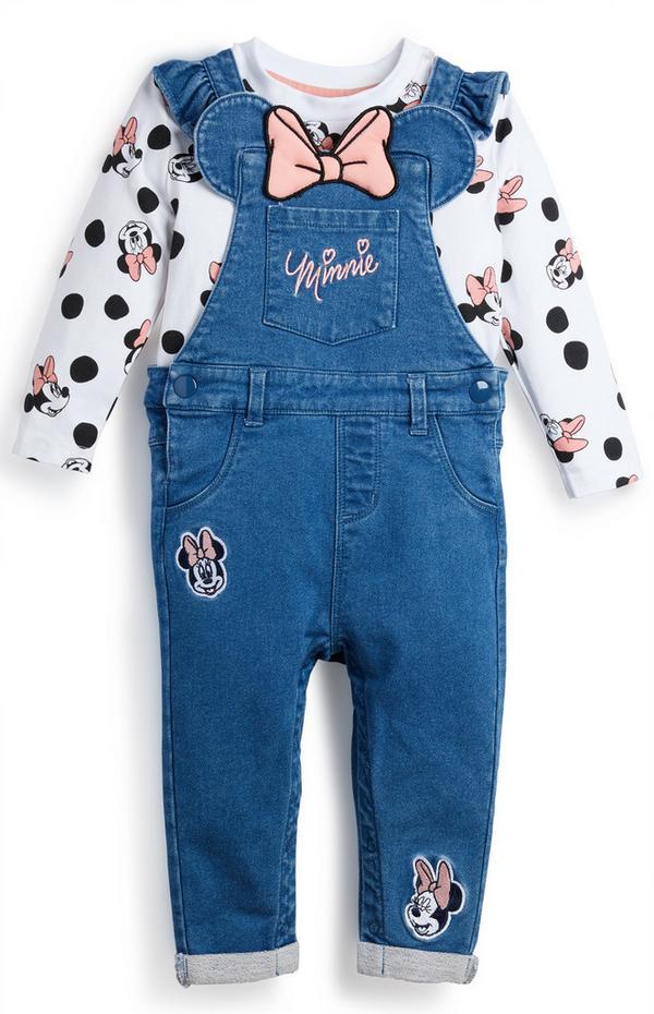 """""""Minnie Maus"""" Jeans-Latzhose für Babys (M)"""