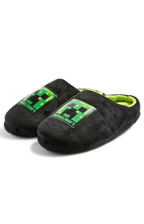 Older Boy Minecraft Slippers