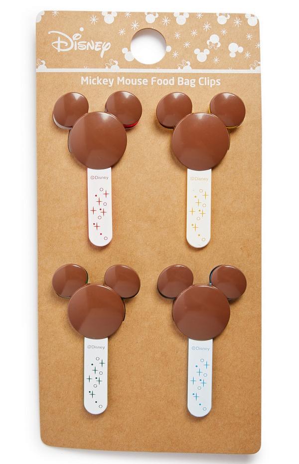 Juego de pinzas para bolsas de alimentos de Mickey Mouse