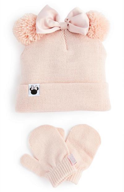 Conjunto de invierno rosa palo de Minnie Mouse para bebé niña
