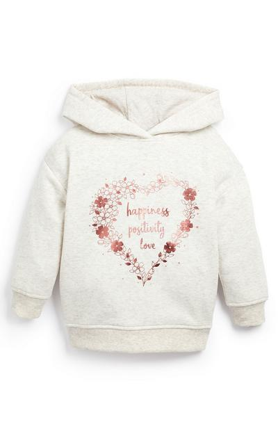 Younger Girl Cream Happiness Hoodie