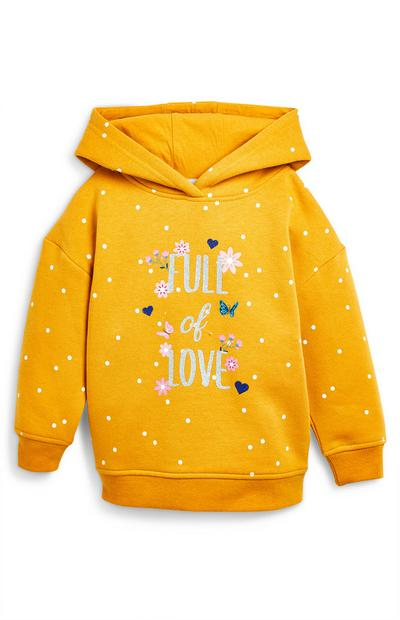 Younger Girl Mustard Full Of Love Hoodie