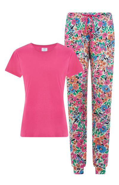 Pink Floral Sustainable Pajamas